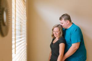 in home engagement session Tempe, AZ